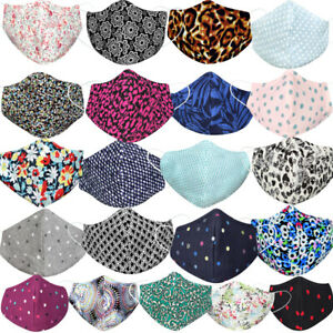 New Reusable Face Mask Washable Masks UK Mouth Nose Breathable Protection Cover