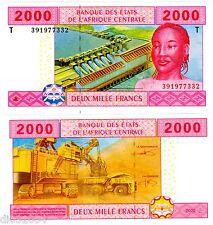 CONGO AFRIQUE CENTRALE AFRICAN STATES Billet 2000 FRANCS 2002 P108T NEUF UNC