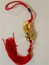 2017 Chinese Rooster Amulet Tassel Hanger Good Luck Coins Door Car Feng Shui