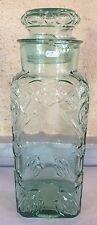 bocal a bonbons pot confiseur verre vert avec bouchon 35 cm (n°2)
