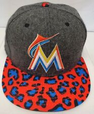 10dfc7c98aa9c Miami Marlins Men s New Era Satin Specialty M L 9FIFTY Snapback Cap Hat