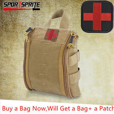 Outdoor MOLLE First Aid Utility Pouch Medical Bag + Free Attachment Patch