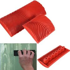 2x Wood Graining Rubber Painting Effect Tool Texture Pattern DIY Home Decor Toy