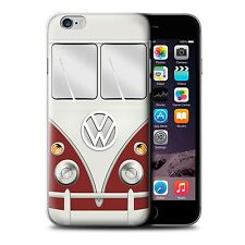 Stuff4 Phone Case/back Cover for Apple iPhone 6s /plus /retro T1 Camper Bus TITAN Red