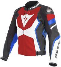 Motocicleta chaqueta combinada Dainese Avro 4 color Negro/blanco/azul/rojo