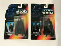 STAR WARS POWER OF FORCE, DARTH VADER & LUKE SKYWALKER FIGURES; IN BOX; KENNER