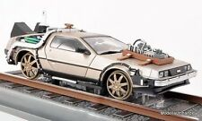 DeLorean dmc-12 time machine Back to the Future III voies ferrées - 1:18 sunstar