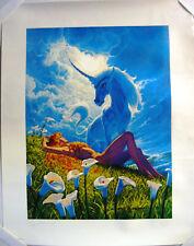 Vtg Angel of the Gods, Lithograph Print, signed, Greg Hildebrandt 1981 277/500