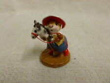Wee Forest Folk Clippity Clop Special Edition M-290 Mouse Horse Cowgirl Retired