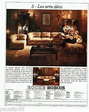 PUBLICITE ADVERTISING 116  1977   Roche Bobois  (2p)   fauteuils canapé Art Déco