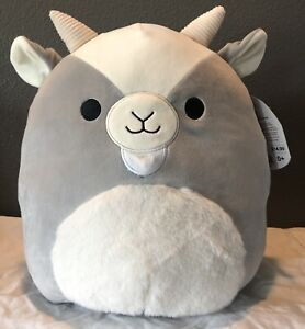 "🔸NEW Squishmallow 12"" Walker the Goat with Fur"