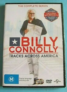 BILLY CONNOLLY TRACKS ACROSS AMERICA DVD NEW SEALED Region 4