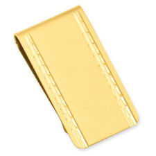 Florentined Engraveable Money Clip Kelly Waters Gold Plated Satin