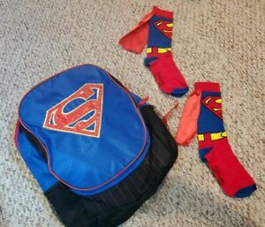 Superman Children's Backpack and matching socks with cape! Back to school