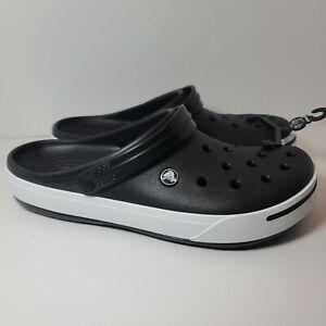 Crocs Crocband II Black White Clog 11989-060 Mens Size 13