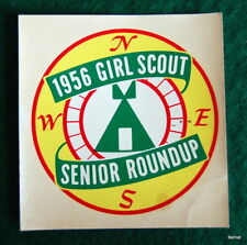 1956 GIRL SCOUT SENIOR ROUNDUP DECAL - ONLY 5,000 GIRLS - SCARCE