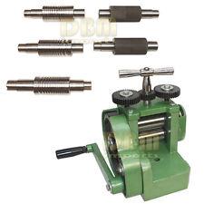 """Rolling Mill Machine 3"""" (80mm) Wire Flat Pattern Roller Sheet Metal 7 Dies"""
