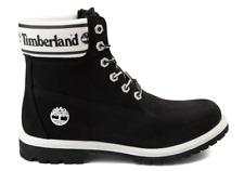 New Timberland Womens 6'' Premium Waterproof Comfort Leather Boot Black/White .