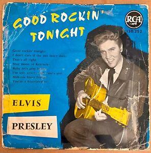 "Elvis Presley 25cm.""Good Rockin' Tonight"" France ORIGINAL 1959"