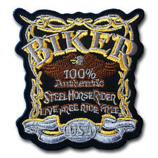 Steel Horse Rider 100% Authentic Harley Chopper Biker Motorcycle Patch Iron on