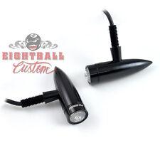 LED Blinker Motorrad, Quad , Harley & Custombike Bullet Mono schwarz 203-217