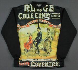 Vintage Louis Garneau Rudge Cycle Company Long Sleeve Cycling Jersey Medium