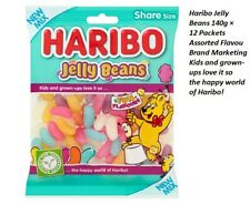 Haribo Jelly Beans 140g × 12 Packets Assorted Flavour Sugar Coated Gums Kids  BW