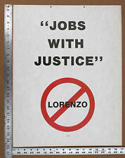 1988 Eastern Airlines JOBS WITH JUSTICE Strike Poster. IAM TWU ALPA Texas Air