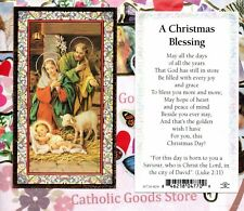 Holy Family + A Christmas Blessing  - gold trim - Paperstock Holy Card