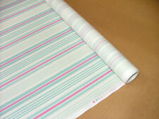 4m iLiv Beechwood Pastel Stripe Cotton Fabric Curtain Roman Blinds Upholstery