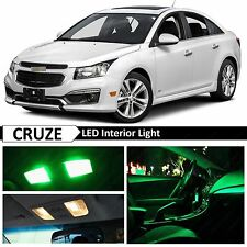 12x Green LED Lights Interior Package Kit for 2011-2017 Chevy Cruze