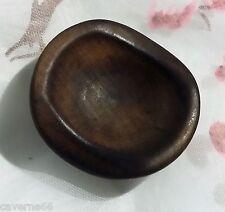 collection ANCIEN BOUTON BOIS incurvé 33 mm x 31 mm vintage T13