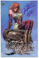 DAWN PIN-UP GODDESS LIMITED VARIANT NM SIGNED BY LINSNER W/COA LIM TO 3500 RARE