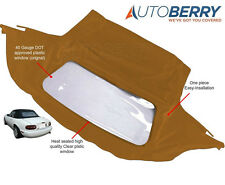 Mazda Miata Convertible Top & Plastic Window 1990-2005 Tan Cabrio