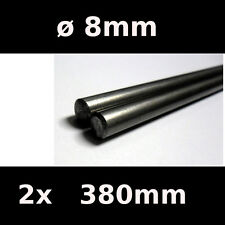 2x Steel Smooth Rods ø8mm 380mm - Reprap 3D printer iron