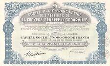 Ateliers Anglo-Franco-Belge de La Croyere, Seneffe et Godarville, accion, 1943