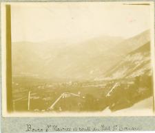 France, Bourg St-Maurice et route du Petit St-Bernard, ca.1900, vintage citrate