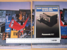 1980s DOUBLE PAGE ADVERT (ON SEPARATE PAGES) FOR PANASONIC X10 MUSIC SYSTEM