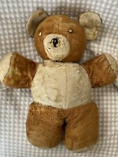 Vintage straw TEDDY BEAR well loved & tattered bear 1950-60's