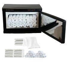 2 in 1 Black Hot Towel Warmer Cabinet UV Sterilizer Towels Spa Salon Equipment