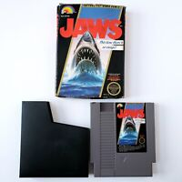 Jaws (Nintendo Entertainment System, 1987) w/ Box & Sleeve Authentic Tested