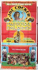 3sh MAD DOGS AND ENGLISHMEN {JOE COCKER} Original 41x81 Movie Poster 70s