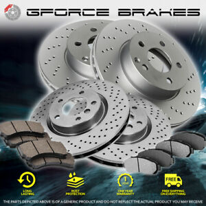 F+R Drilled Rotors & Ceramic Pads for 2016-2019 Infiniti Q50 Sport & Red Sport