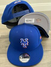 New York Mets Snap Snapback 9Fifty New Era CAP 950 Hat OSFM Coop 2Hit Blue MLB