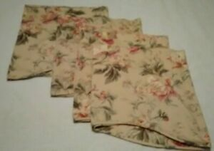 """Waverly Home Classics Floral  Scalloped Valance Creme Pinks Greens (4) 78"""" x 21"""""""