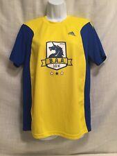 Baa Boston Athletic Assoc Adidas Running T shirt 2013 10K Yellow Blue Men's Sz S