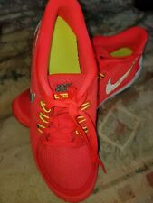 WOMEN NIKE FREE 5.0 NEON ORANGE SNEAKERS GYM TUNNING SHOES SIZE 7 SOFT LIGHT
