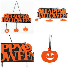 1x Halloween Banner Fashion Pumpkin Ornament Door Decor Hanging Party Decoration