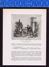 Scene from Robert le diable Opera by Giacomo Meyerbeer -1925 Music History Print