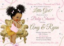 Diamonds Pearls Baby Shower, Girl, Baby, Pink, Pearls, Diamonds, Invitation
